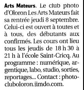 """L'article paru dans le journal """"La république des Pyrénées"""""""
