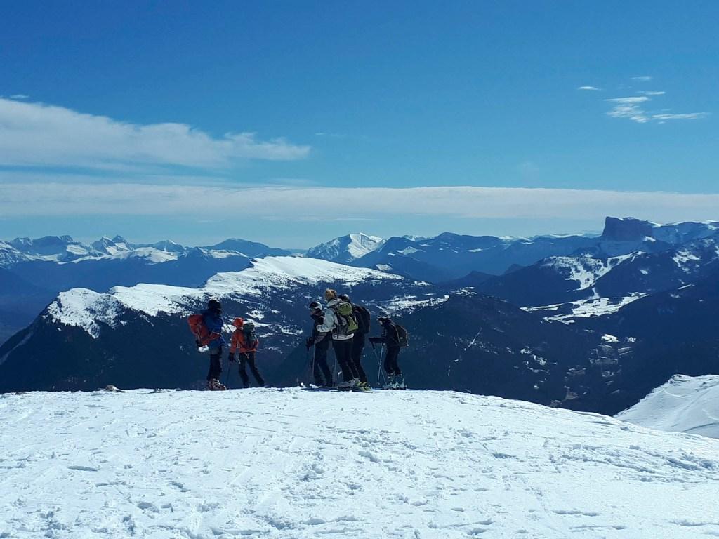 Vertige escalade c'est aussi du ski !