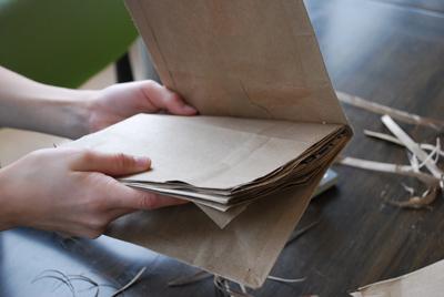 Upcycled Paper Bag Scrapbook Journal Tween Craft
