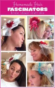 homemade hair fascinators craft