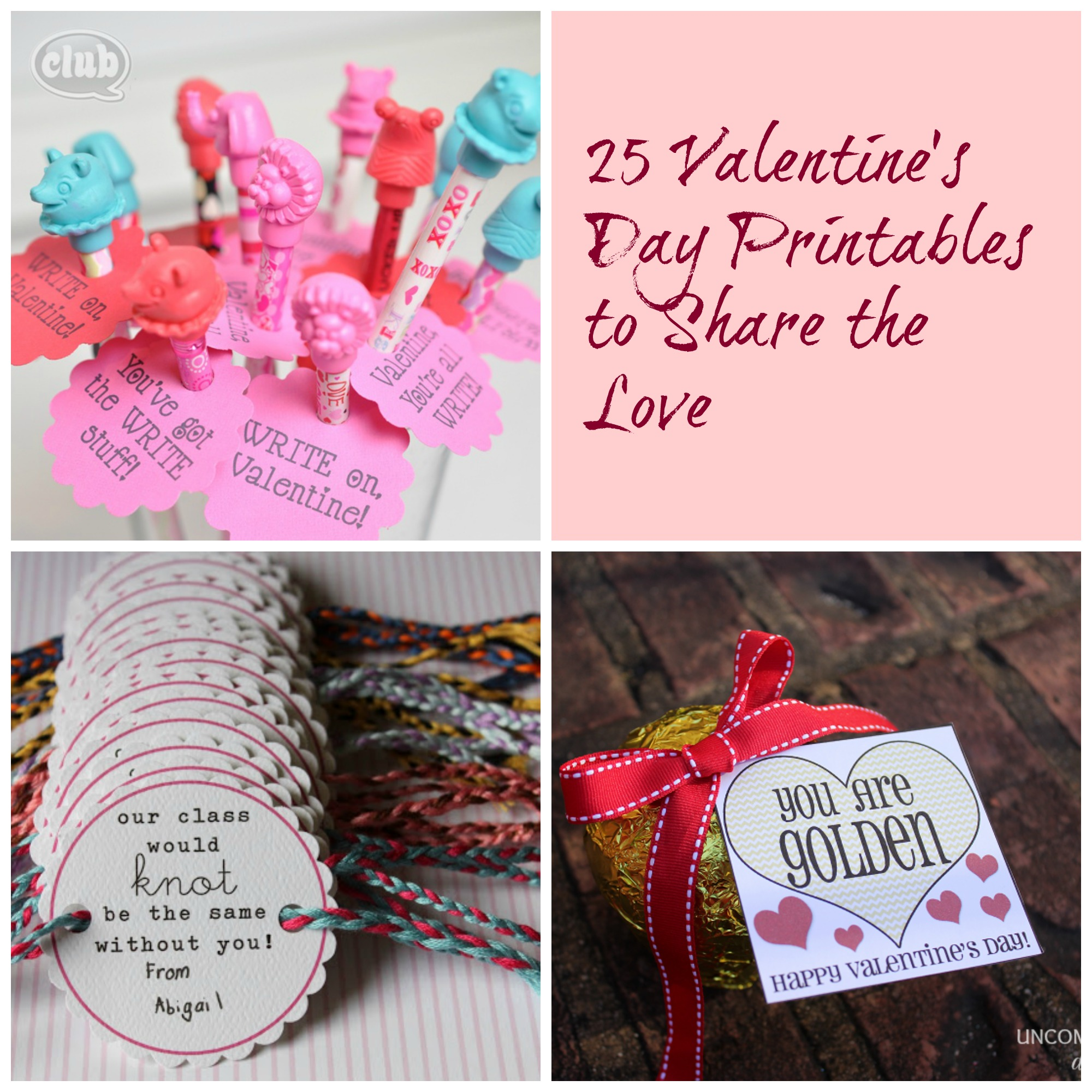 25 Valentine S Day Printables To Share The Love Club Chica Circle