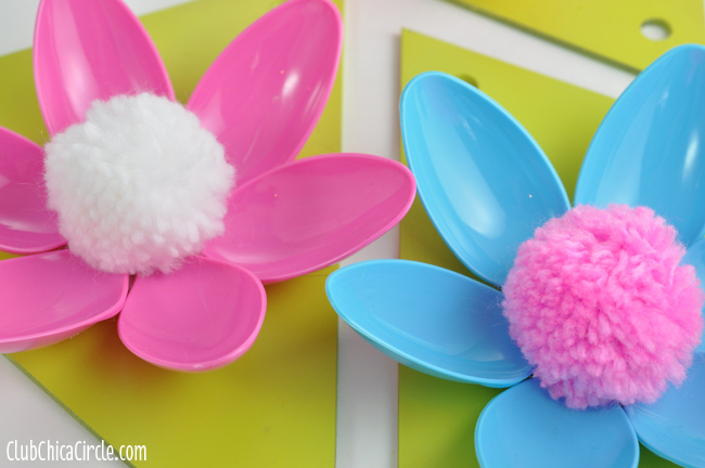 Turn ordinary boxes into fun and practical items. Easy Spring Flower Plastic Spoon Garland Craft Idea And Tutorial