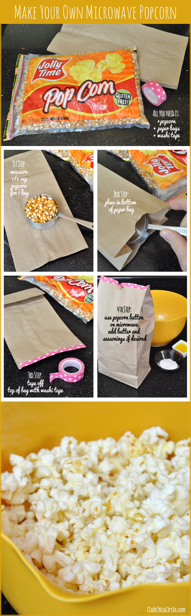 how to make your own microwave popcorn bags