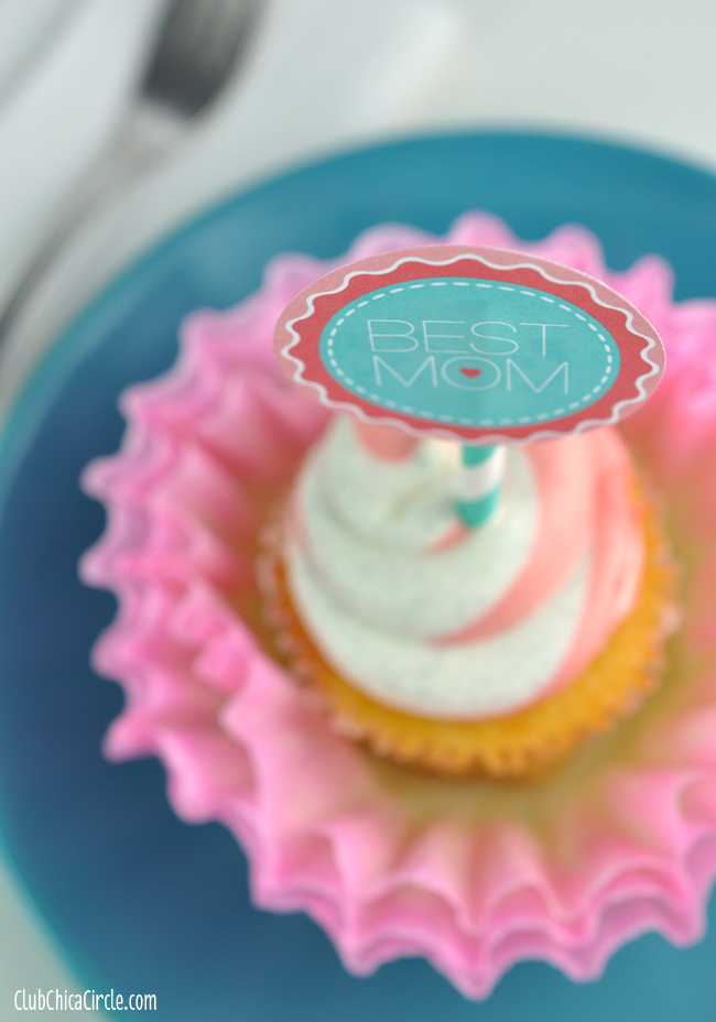 Hand Dipped Dyed Coffee Filter Cupcake Flower Decorations