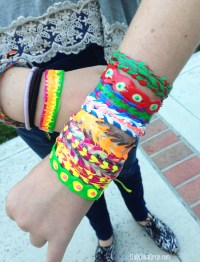 Puffy Paint Friendship Bracelets