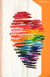 Faux Stone Rainbow Crayon Wall Art DIY