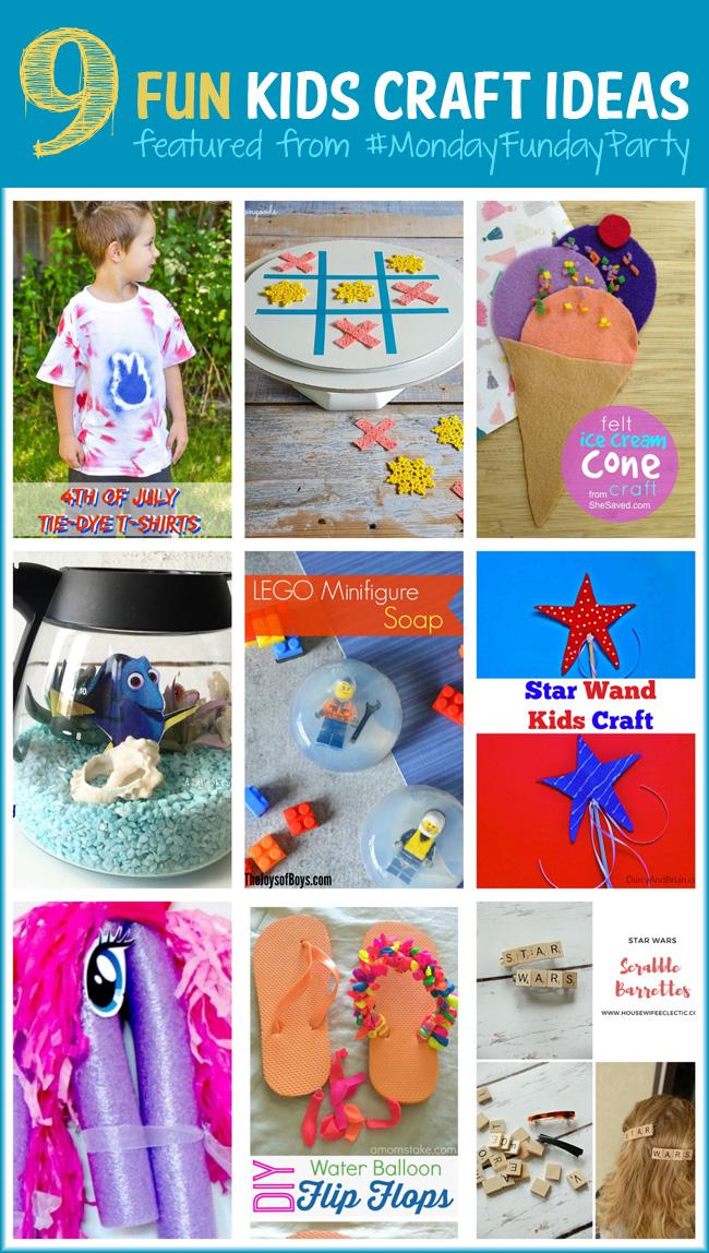 9 Fun Kids Craft Ideas #MondayFundayParty