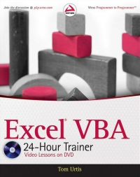 Excel VBA 24Hour Trainer by Tom Urtis