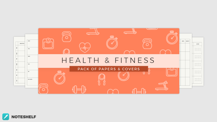 Fitness themed templates in Noteshelf 2