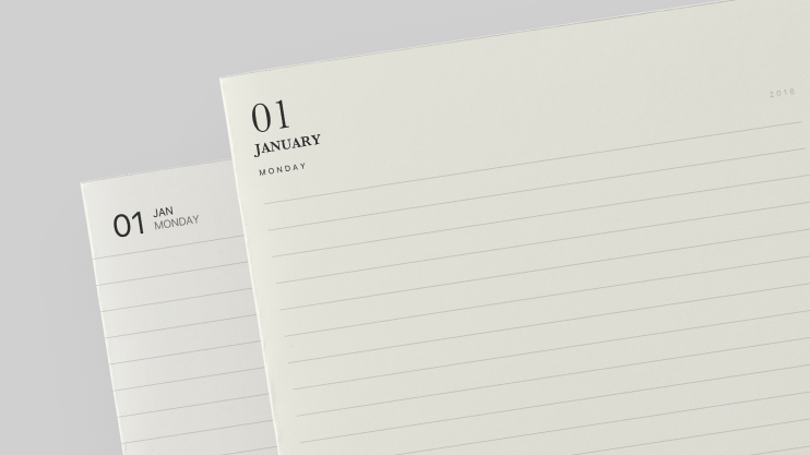 Diaries 2018 Pack of Papers in Noteshelf 2