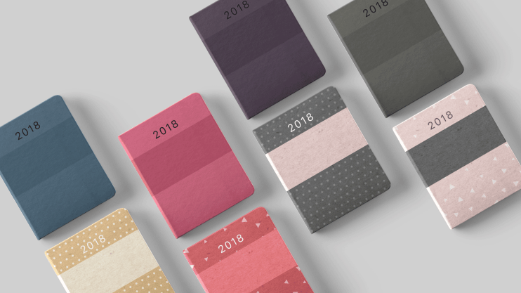 Diaries 2018 Pack Covers in Noteshelf 2
