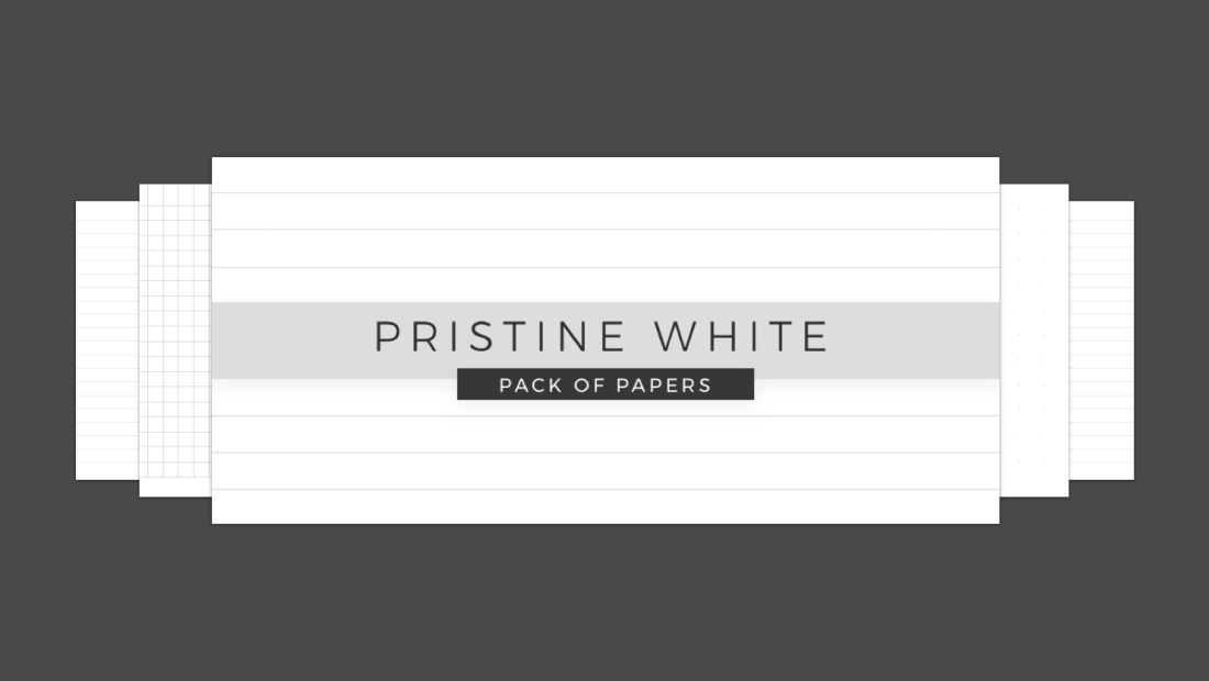 Minimal Pristine White Papers Noteshelf 2