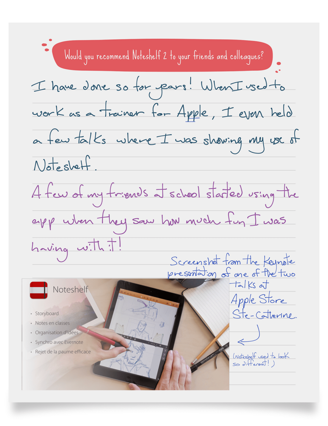 Alex Dornier recommends Noteshelf
