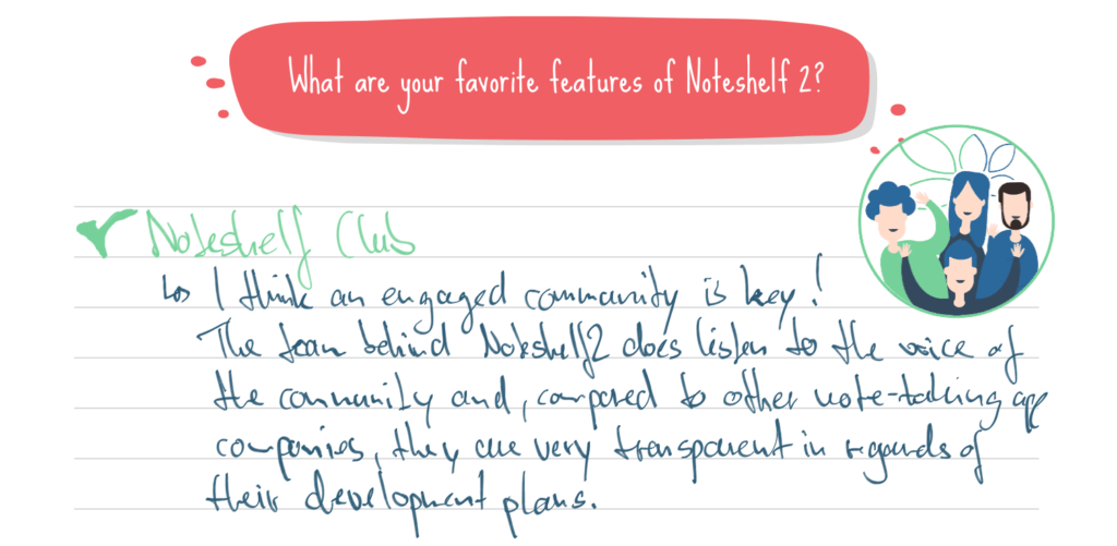 Noteshelf Club - Engaged community is the key!