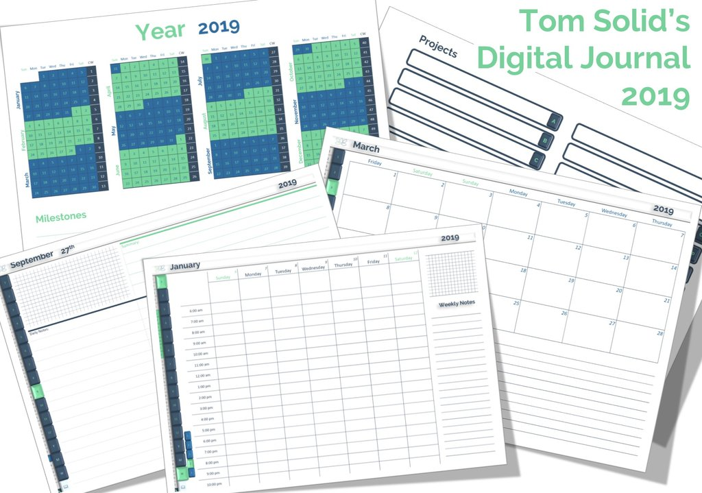 "tom solid digital journal 2019 eBook Bundle - ""Paperless Note-Taking Like A Pro"""