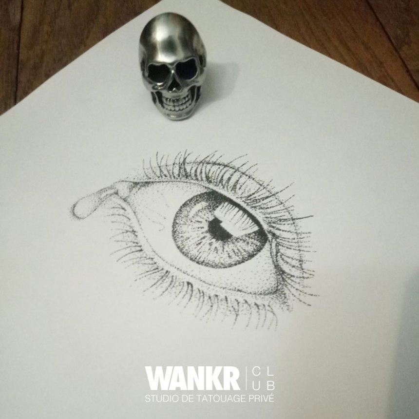 eye tattoo dotwork