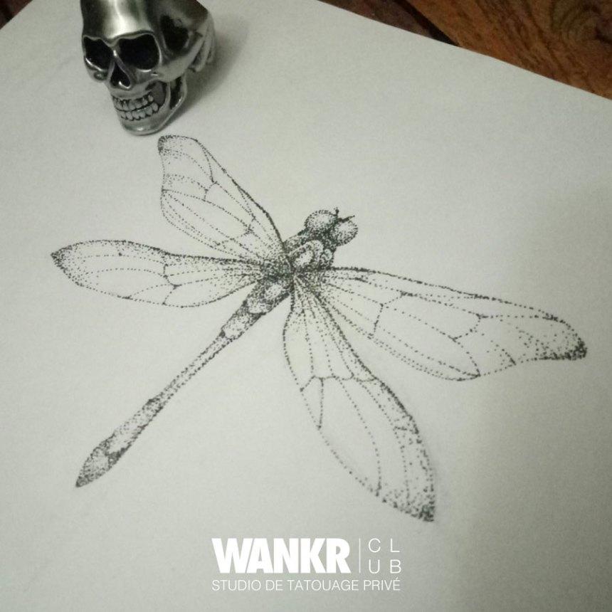 Libellule tattoo - wankrclub