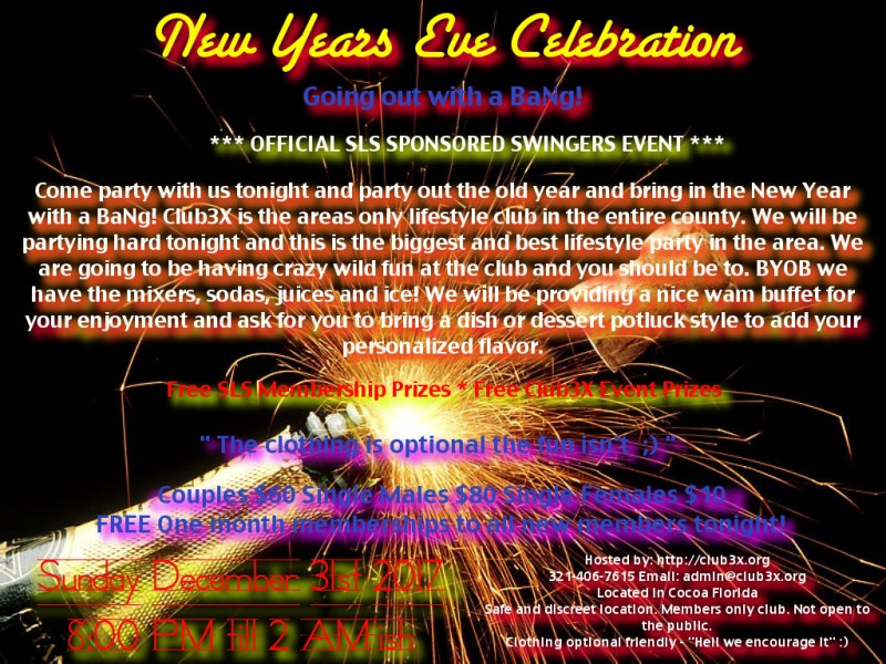 NYE New Years Eve Party 2017 Club3X Cocoa Florida