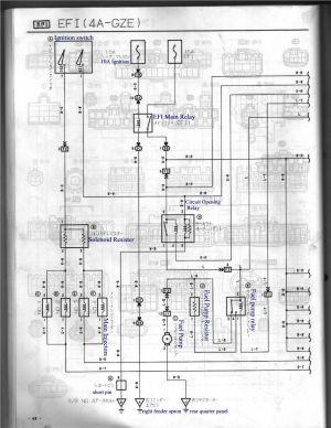 4AGZE (Japan) AE92101 ECU Pin Identification (Now