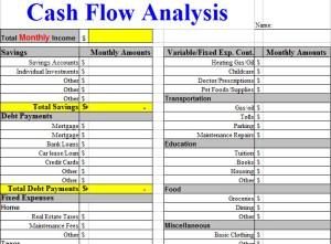 cash flow budget worksheet excel
