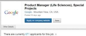 671 applicants for a PM job at Google
