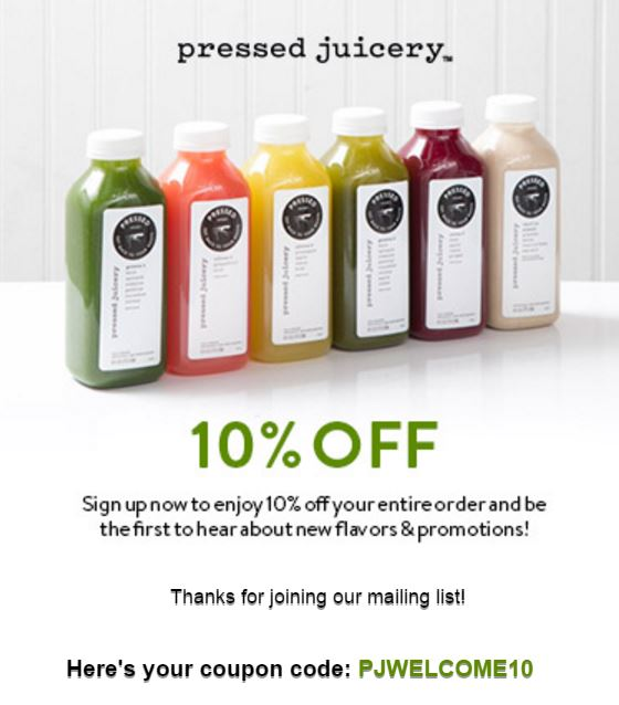 10 percent pressed juicery coupon