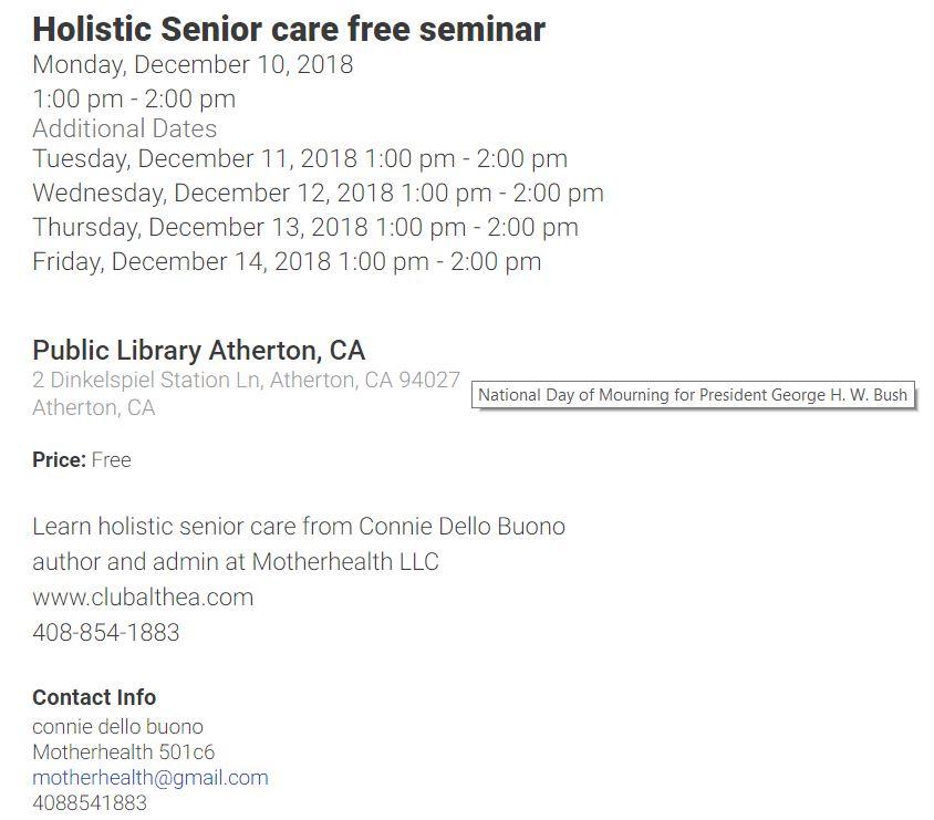 senior care seminar