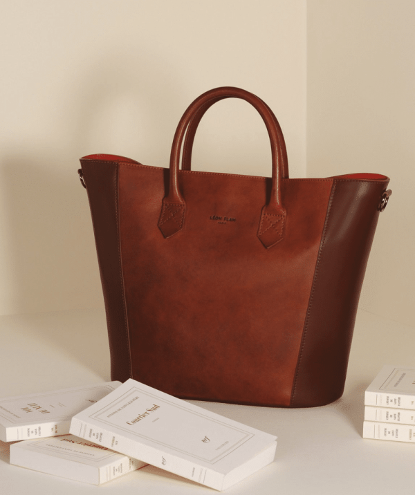 SAC/BAG Cabas Mendoza GOLD by LÉON FLAM PARIS - Made in France