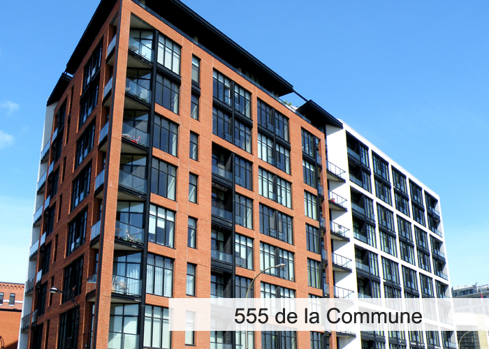 555 de la Commune Condos Appartements