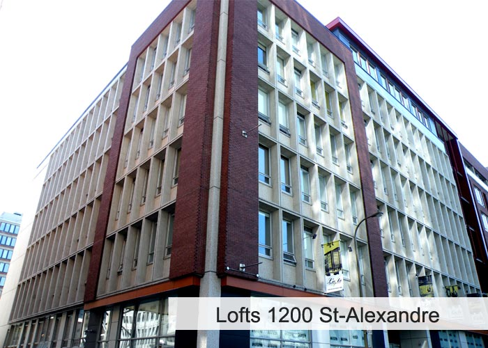 Lofts 1200 St-Alexandre Condos Appartements
