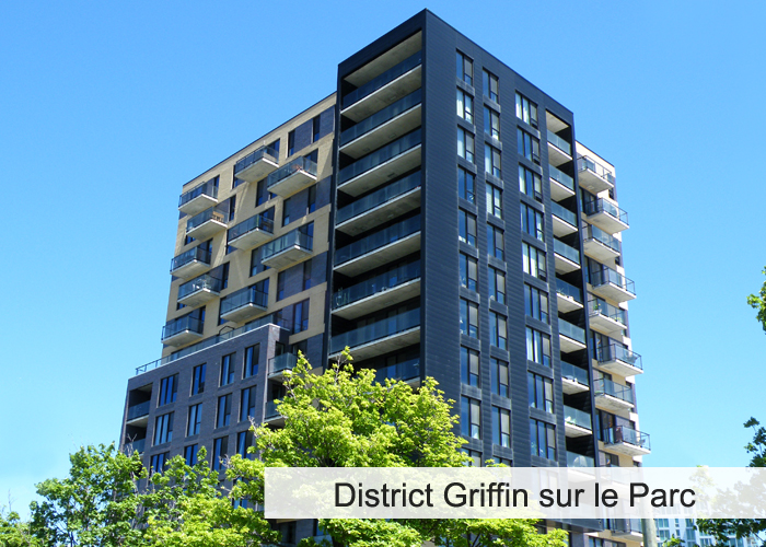 District Griffin sur le Parc Condos Appartements