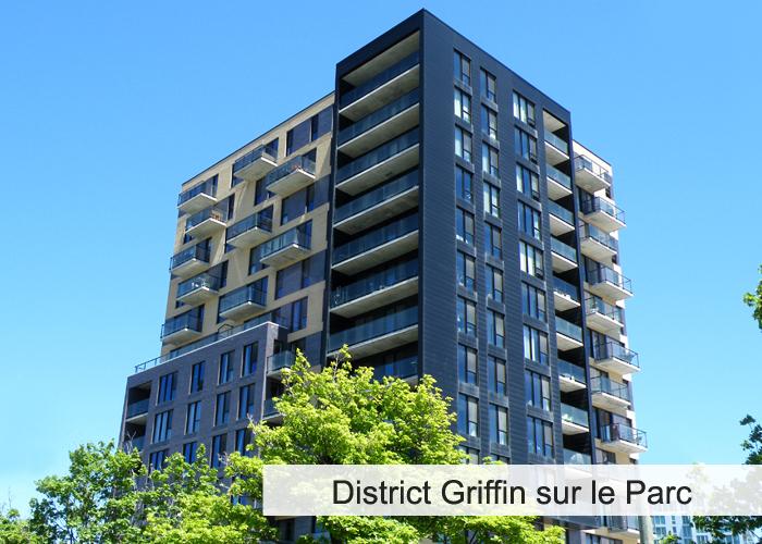 District Griffin sur le Parc Condos Appartements