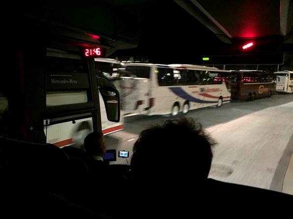 Also ab in den Bus und nach Hause