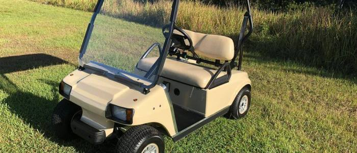 club car ds beige 2003 side 700x300 - Used Golf Cars