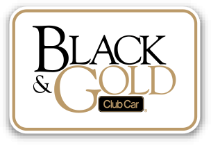 2014 Black Gold Button - Club Car White Logo PNG