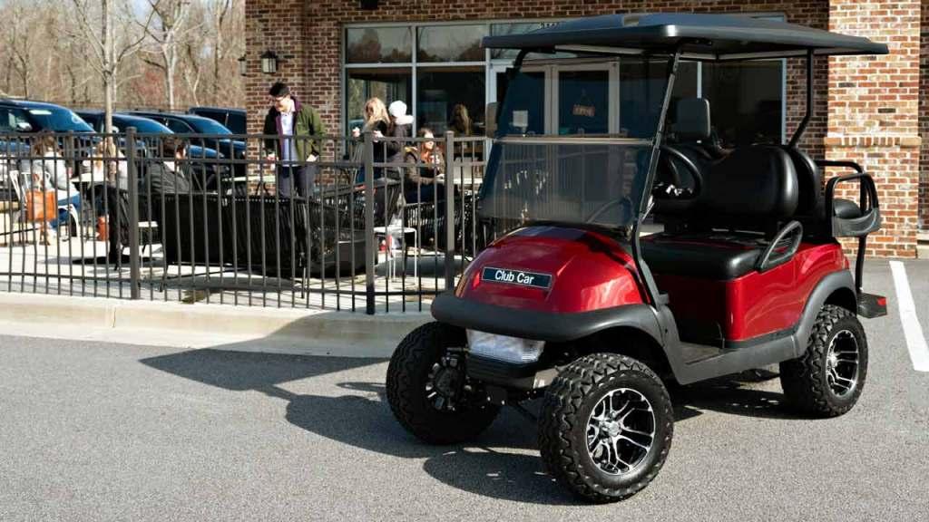 cc v4l metallic red 4 passenger lifted golf cart 1280x720 1 - V4L - Villager 4 Passenger Lifted