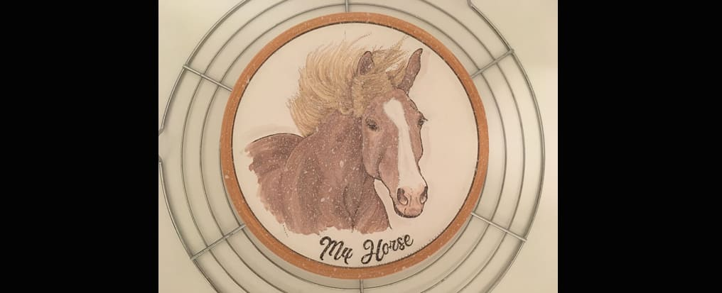 Your horse painted on a plate the crystallisation