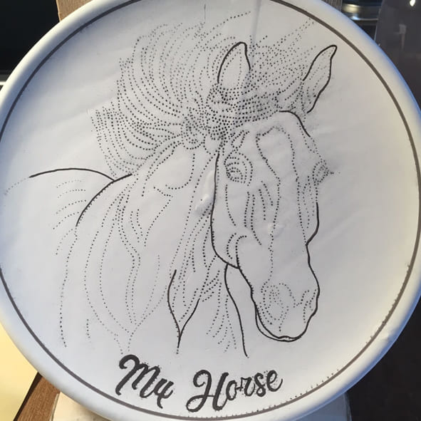 Your Horse Painted on a Plate Track