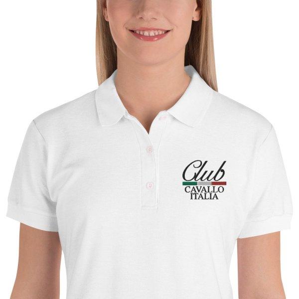Polo da donna ricamata Club Cavallo Italia