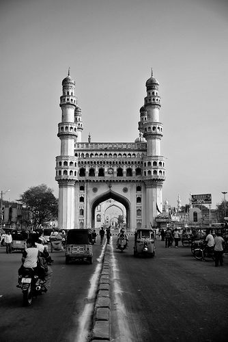 charminar - center framed (black and white)
