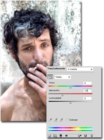Como crear un efecto dragan tono saturacion
