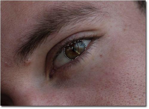 Como cambiar el color de ojos en Photoshop 03_Seleccion