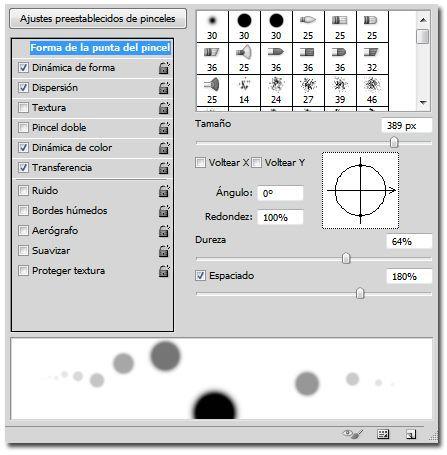 Crear un efecto bokeh en Photoshop_02_ajustes pincel