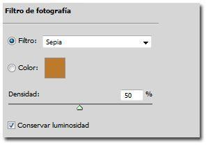 Crear un efecto bokeh en Photoshop_09_filtro de fotografia sepia