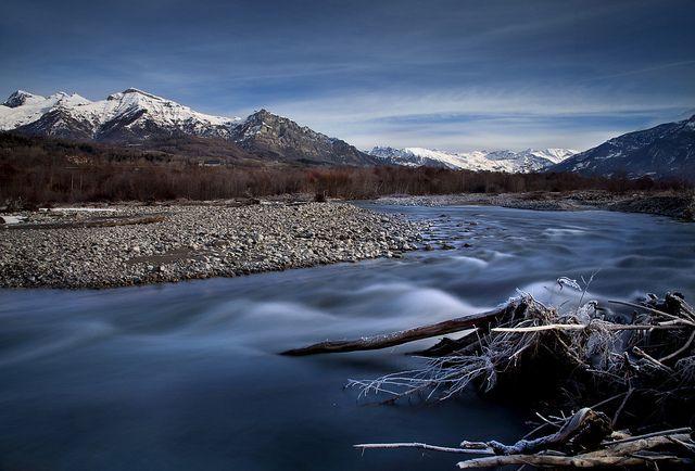 Drac River in winter, por dyonis