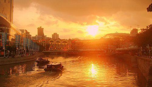Clarke Quay Singapore, por Leong Him Woh