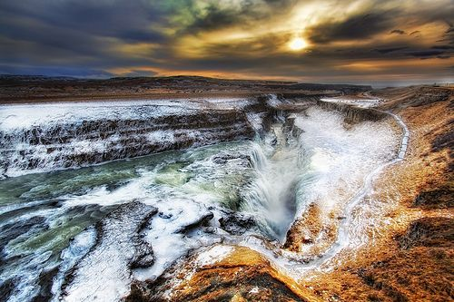 Gullfoss Waterfall, Iceland, por Christopher Schoenbohm