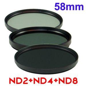 Filtro de Densidad Neutra ND2 + ND4 + ND8 Para Fotografía