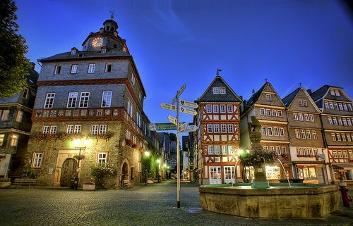 Herborn Market Place in Germany, por Werner Kunz