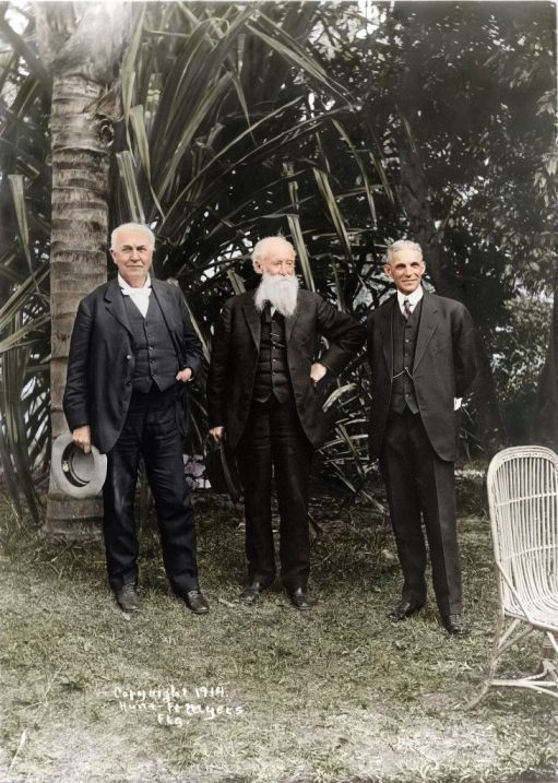 Thomas Edison, John Burroughs, y Henry Ford, Marzo 1914, por Edvos